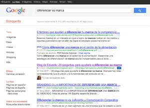 Buscador Google palabras clave