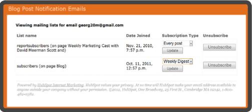 Notificación email marketing
