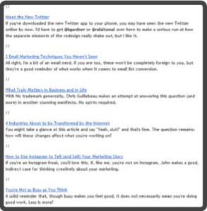 Resumenes en el email marketing