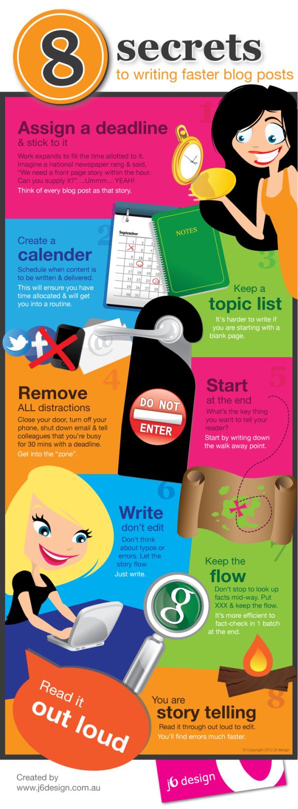 8 Secretos para escribir más rápido en tu blog