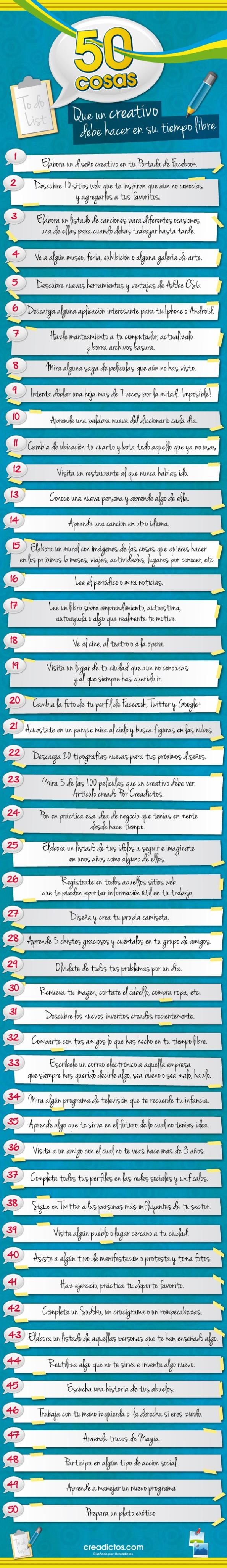 50 cuestiones para ser más creativo