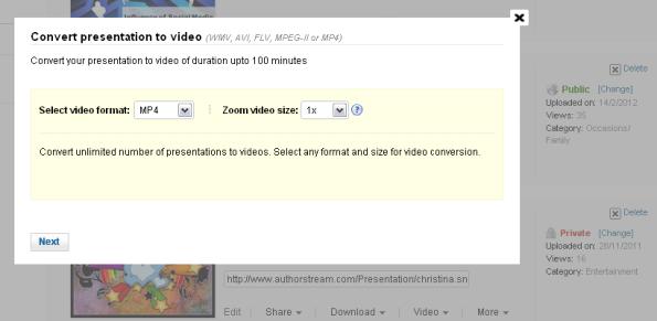 conversion presentacion de powerpoint a video