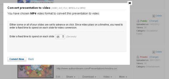 conversión presentación de powerpoint a vídeo