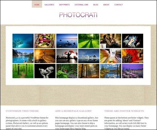 Temas de WordPress para fotografías
