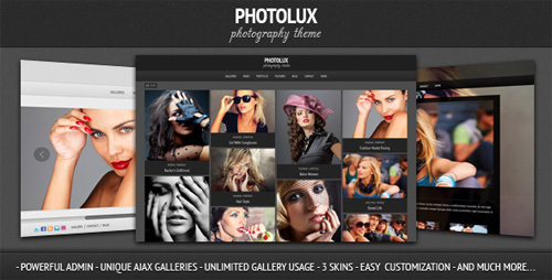 Photolux – Photography Portfolio WordPress Theme