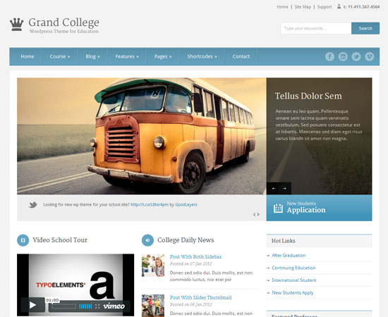 Temas de WordPress para colegios y Universidades