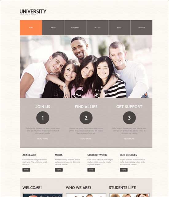 Temas de WordPress para colegios, escuelas y Universidades