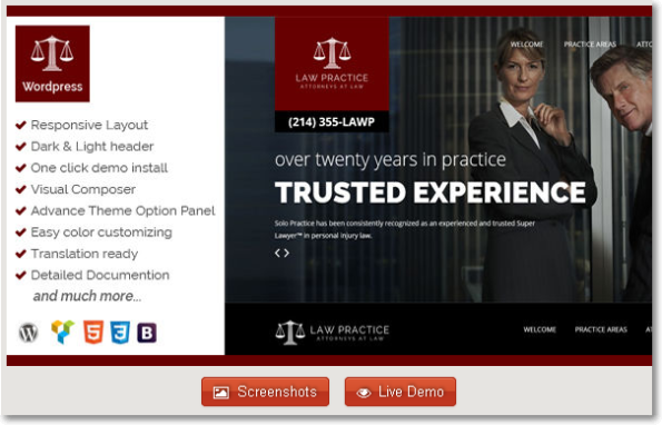 Practice Law – #WordPress Attorney Theme