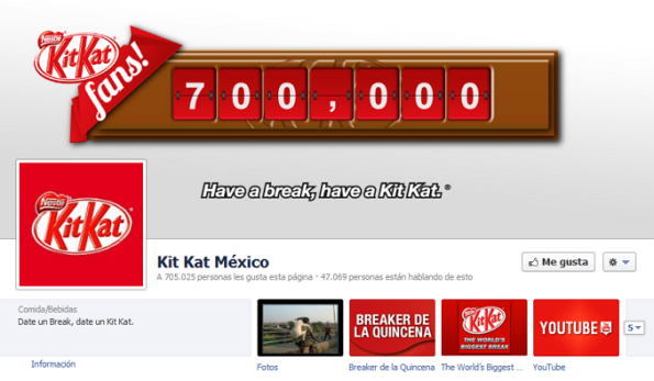 Páginas globales de KIT-KAT en Facebook