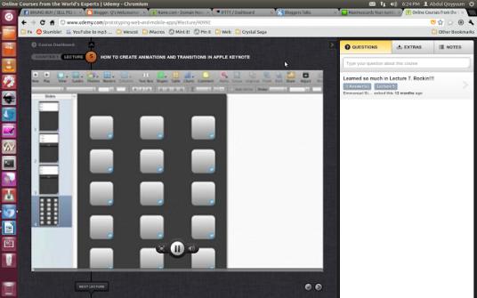 udemys new interface
