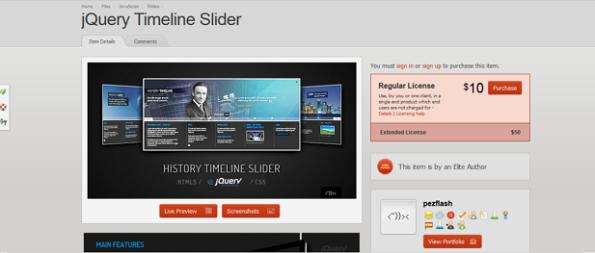 jQuery Timeline Slider