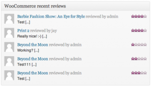 Recent Reviews Widget