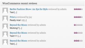Recent Reviews Widget