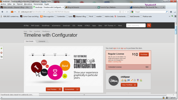 Timeline with Configurator