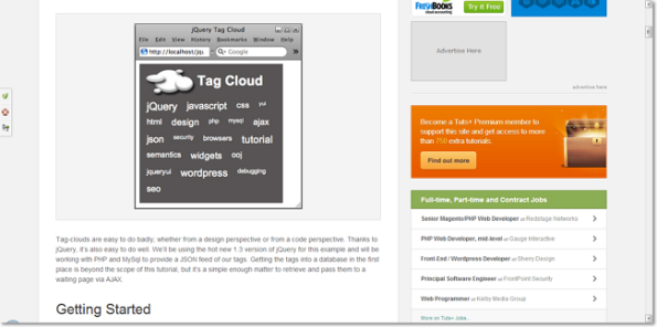 Building a jQuery Powered Tag Cloud