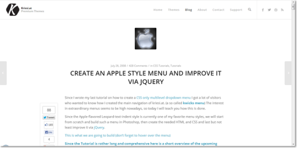 CREATE AN APPLE STYLE MENU AND IMPROVE IT VIA JQUERY