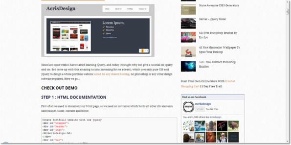 Create Portfolio Website With CSS jQuery