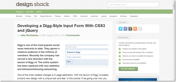 Developing a Digg-Style Input Form With CSS3 and jQuery