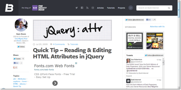 Quick Tip – Reading & Editing HTML Attributes in jQuery