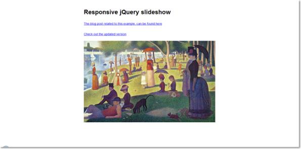 Responsive jQuery slidershow