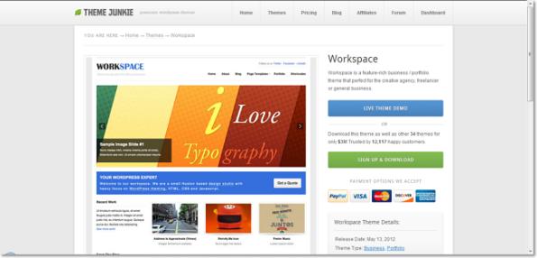 Theme workspace junkie