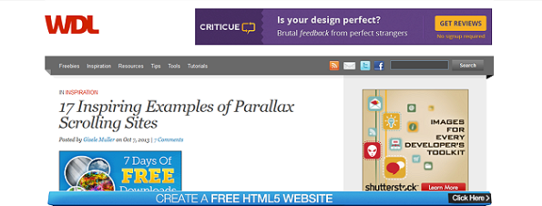 17 ejemplos de scrolling parallax