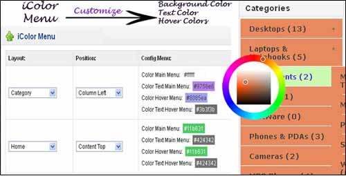 icolor-cliente-opencart-menu