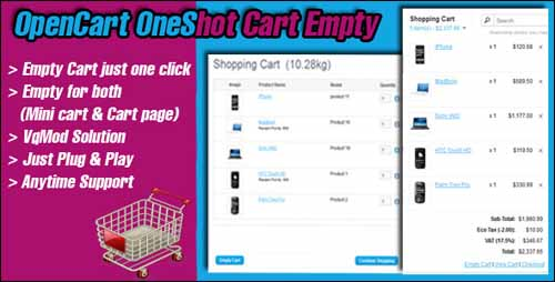 oneshot-cart-empty-opencart-plugin