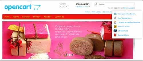 opencart-customer-quick-links