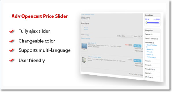 Adv #Opencart Price Slider
