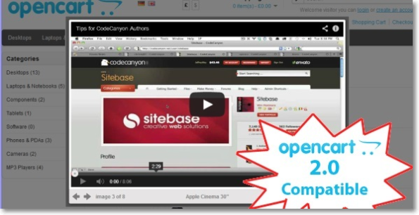 Adv #Opencart Product #Videos