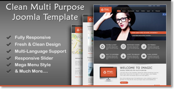 Clean Multi Purpose Joomla Template