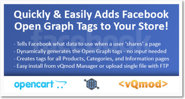 #Facebook OpenGraph Module for #OpenCart (#vQmod)