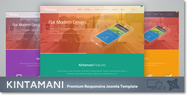 Flat Modern Design KINTAMANI JOOMLA