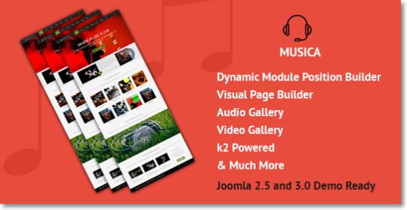 Musica tema Joomla