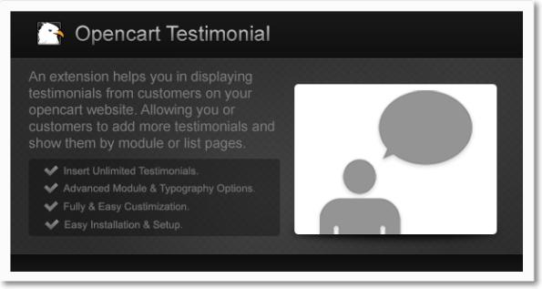 #Opencart Testimonial