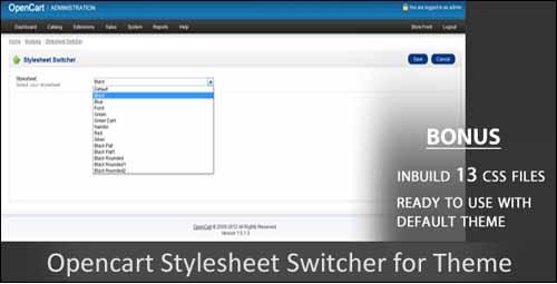 stylesheet-switcher-opencart-modulo