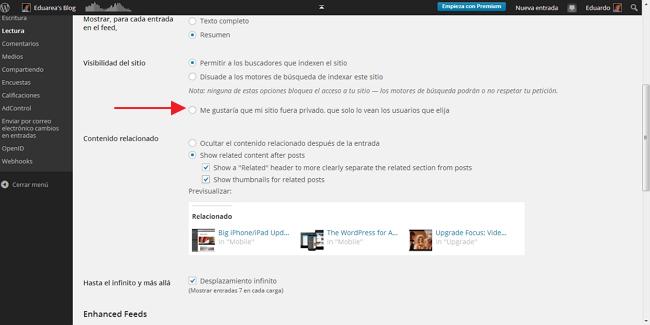 Wordpresscom privado