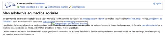 Agregar pagina vinculada a tu libro Wikipedia