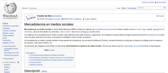 Creador de Libro en Wikipedia