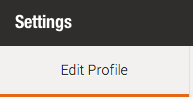 Setting edit profile
