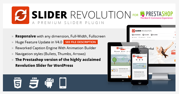 Slider Revolution prestashop
