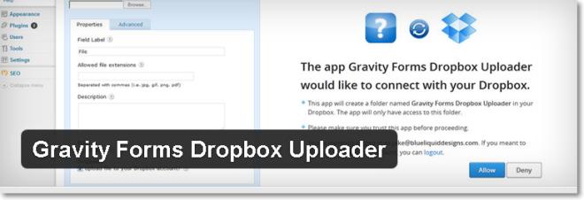 Gravity Forms Dropbox Uploader