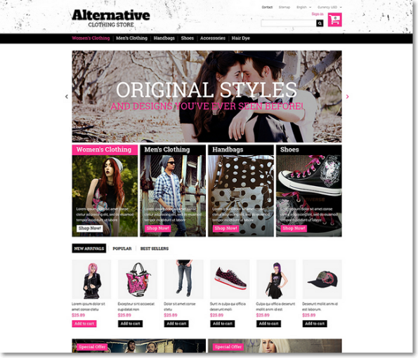 Alternative tema para Prestashop