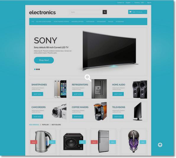 Electronics tema para prestashop