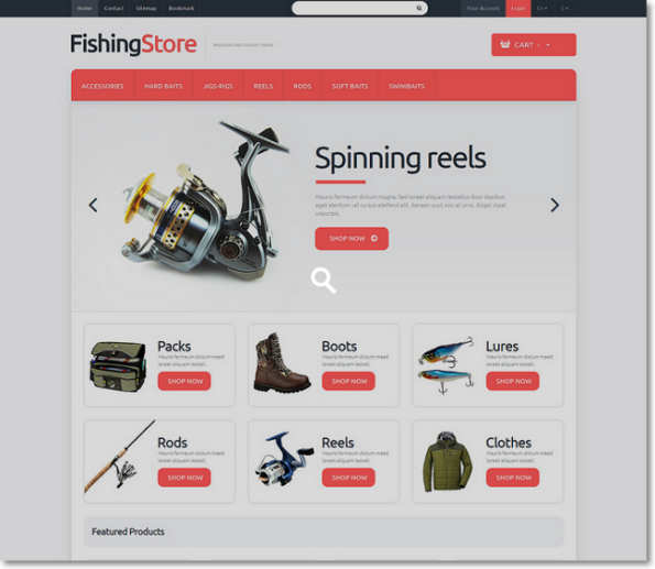FishingStore tema para prestashop