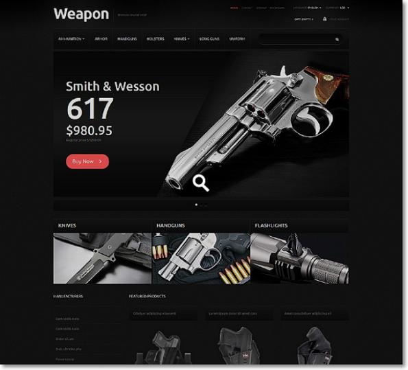 Gun Shop tema para prestashop
