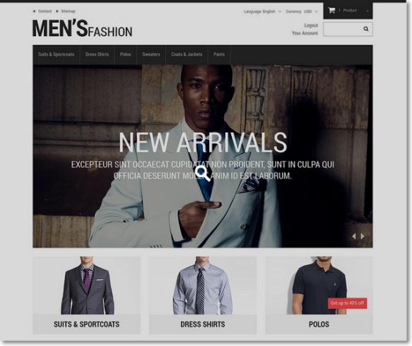 Mens fashion tema prestashop