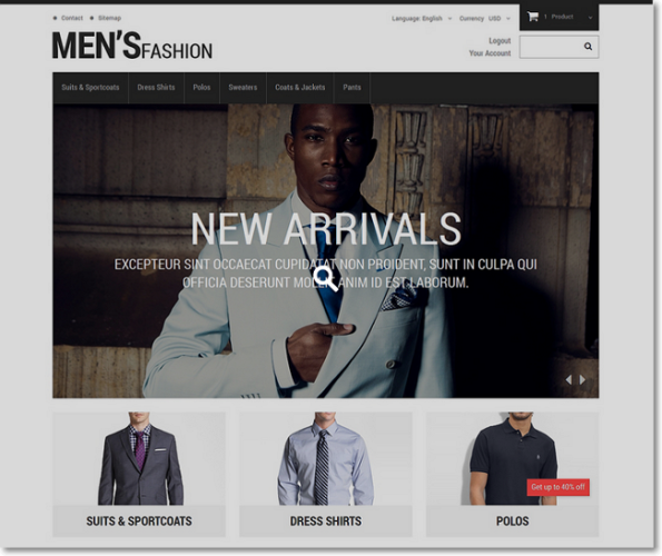 Mens fashion tema prestashop