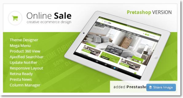 Online Sale tema para prestashop